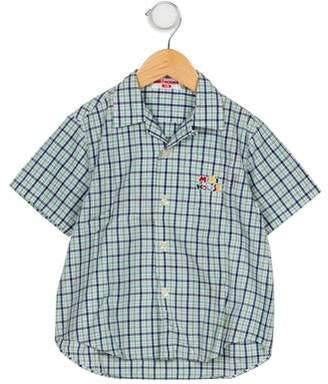 Mikihouse Miki House Boys' Plaid Button-Up Shirt