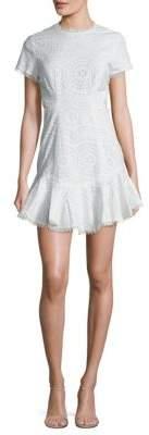 Zimmermann Meridian Eyelet Cotton Flutter Dress