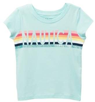 Nautica Glitter Stripe Tee (Little Girls)