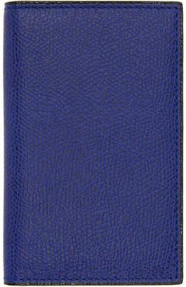 Valextra Blue Business Card Holder
