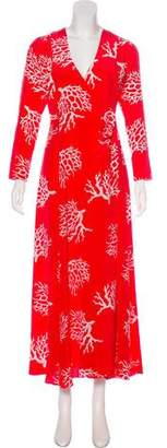Leone we are Silk Printed Maxi Dress w/ Tags