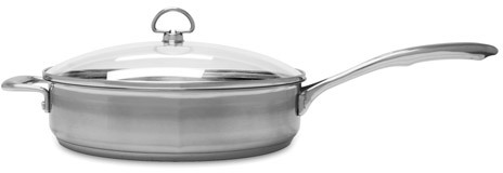 Chantal Induction 21 Saute Skillet with Glass Lid