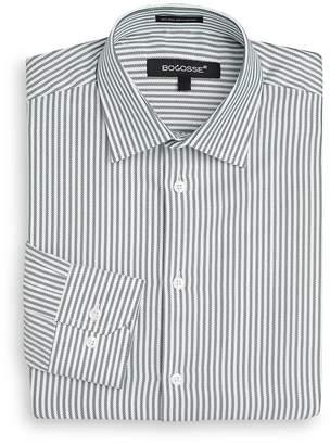Bogosse Men's Slim-Fit Striped Dress Shirt