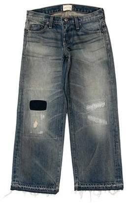 Simon Miller Distressed Wide-Leg Jeans w/ Tags