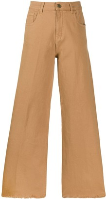 L'Autre Chose flared culotte trousers