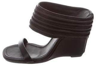 Rick Owens Leather Wedge Sandals w/ Tags