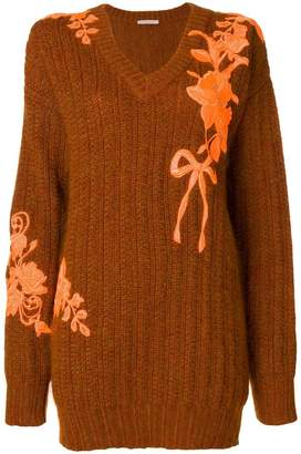 Christopher Kane oversized embroidered sweater