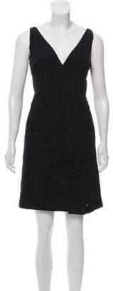 J. Mendel Sleeveless Tweed Dress Black Sleeveless Tweed Dress