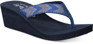 Callisto Jester Thong Platform Wedge Sandals, Created for Macy's Women's Shoes