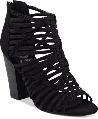 G by GUESS Jelus Caged Sandals $79 thestylecure.com