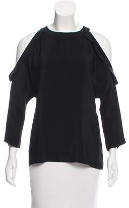 Ramy Brook Long Sleeve Cold-Shoulder Blouse