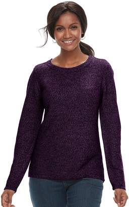 Croft & Barrow Petite Textured Crewneck Sweater