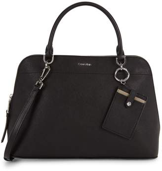 Calvin Klein Structured Leather Satchel