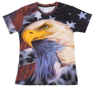 OUTAD American Style Animal Men'S Casual Short Sleeve Summer O-Neck T-Shirt