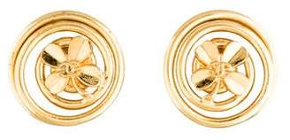 Chanel CC Clover Earrings