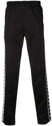 Kappa piped logo tape joggers