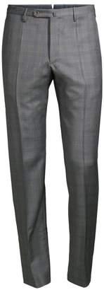 Incotex Super 130's Windowpane Virgin Wool Trousers