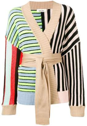 Circus Hotel striped patchwork cardigan