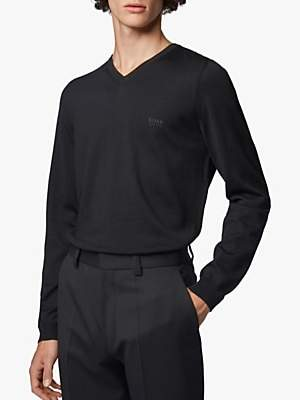 HUGO BOSS BOSS Baram V-Neck Wool Jumper