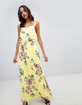 Vila Floaty Floral Maxi Dress