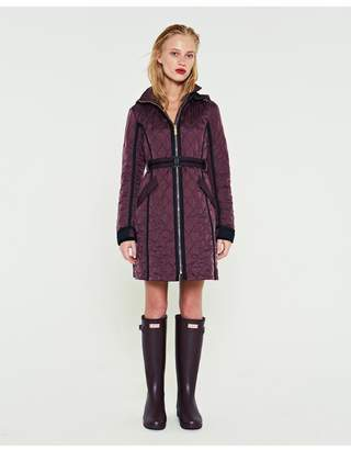 Hunter Womens Refined Quilted Trench Coat