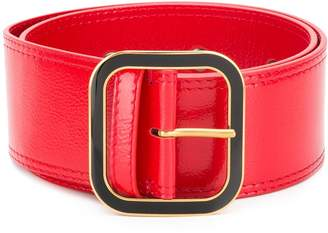 Marni wide square buckle belt