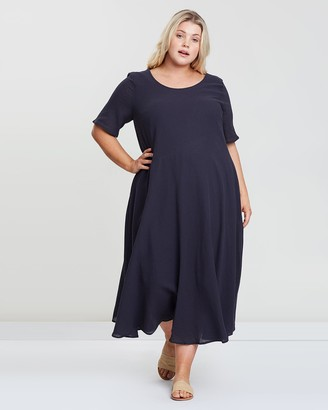 Curved Seam Lined Dress