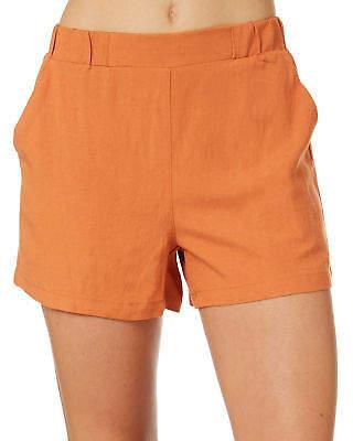 Jax New Betty Basics Women's Linen Short Viscose Red
