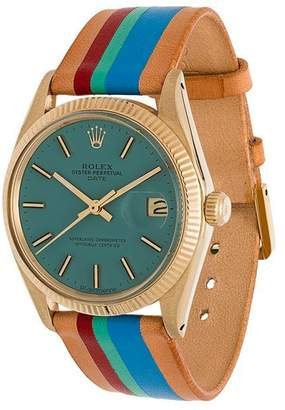 Rolex La Californienne Aqua Le Pliage Oyster Perpetual Date 14k Solid Gold Watch 34mm