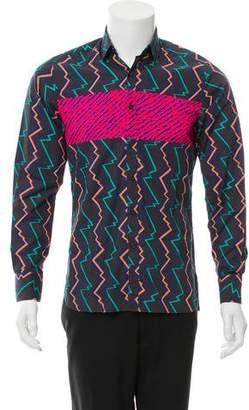 Lanvin Geometric Print Woven Shirt