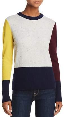 Aqua Color-Block Cashmere Crewneck Sweater - 100% Exclusive