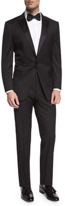 BOSS Huge Genius Peak-Lapel Slim Tuxedo, Black