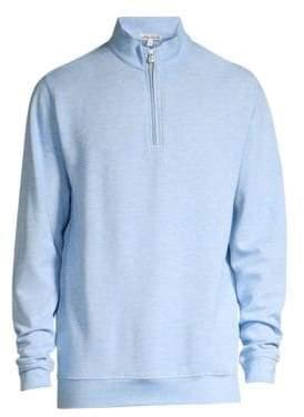 Peter Millar Men's Crown Comfort Interlock Quarter-Zip Sweater - Sail - Size Medium