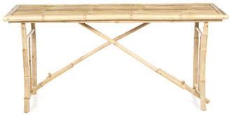 Bay Isle Home Porter Long Folding Bamboo Console Table