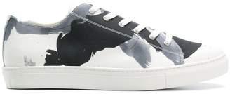 Yohji Yamamoto printed lace-up sneakers