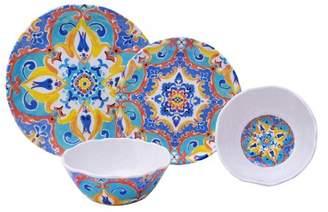 222 Fifth Romella 12 Piece Melamine Dinnerware Set, Service for 4