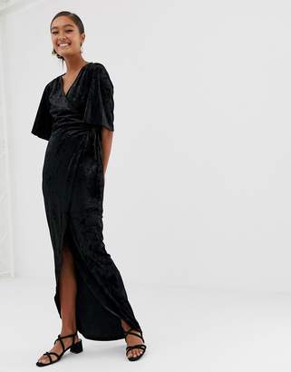 Minimum Moves By Velvet Wrap Maxi Dress