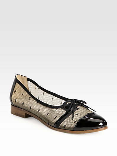 Jason Wu Dorian Lace Mesh & Patent Leather Oxfords