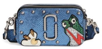 Marc JacobsMarc Jacobs Frog Snapshot Crossbody Bag - Blue