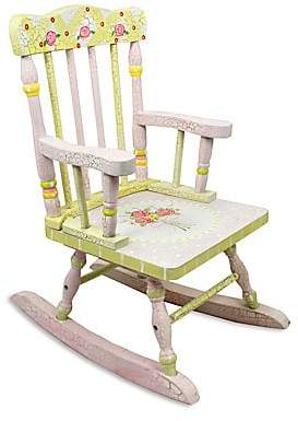 Dacor Teamson Teamson Crackled Rose Small Rocking Chair