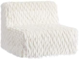 Pottery Barn Teen Riley Lounge Armless Chair, Winter Fox Faux-Fur, QS EXEL