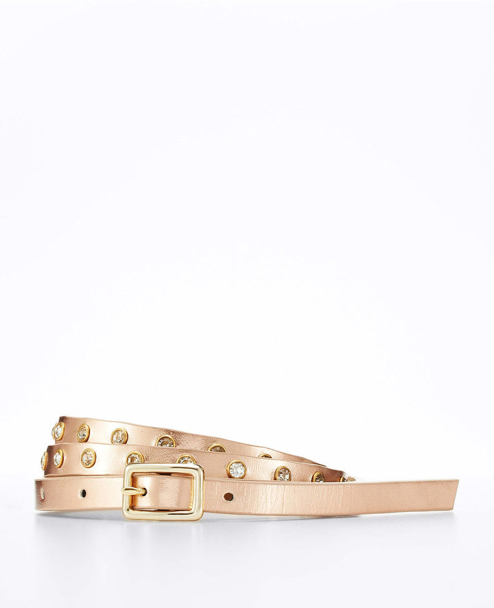 Ann Taylor Gemstone Stud Micro Skinny Belt