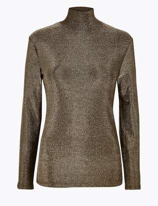 Marks and Spencer Metallic Long Sleeve Top