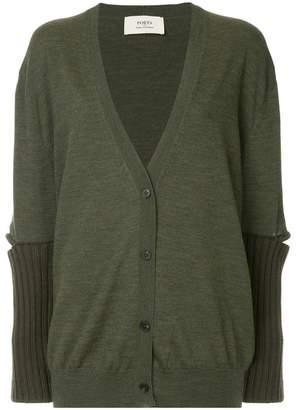Ports 1961 slit sleeve knitted cardigan