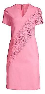 Escada Sport Women's Dacaya Scuba Knit Lace Sheath Dress
