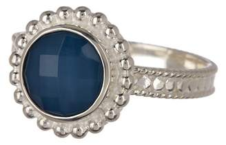 Anna Beck Sterling Silver Blue Quartz Round Ring