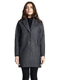 Makia Womens womens - Dark Grey Wool Coat - L / Dark Grey - Grey