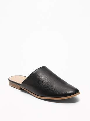 Old Navy Faux-Leather Flat Mules for Women