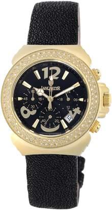 Lancaster Women's OLA0423G/NR/NR Diamond Pillo Chronograph Diamond Dial Watch