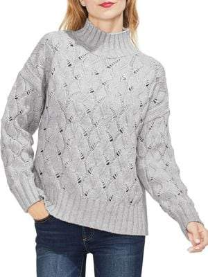 Vince Camuto Gilded Rose Ribbed Textured Sweater